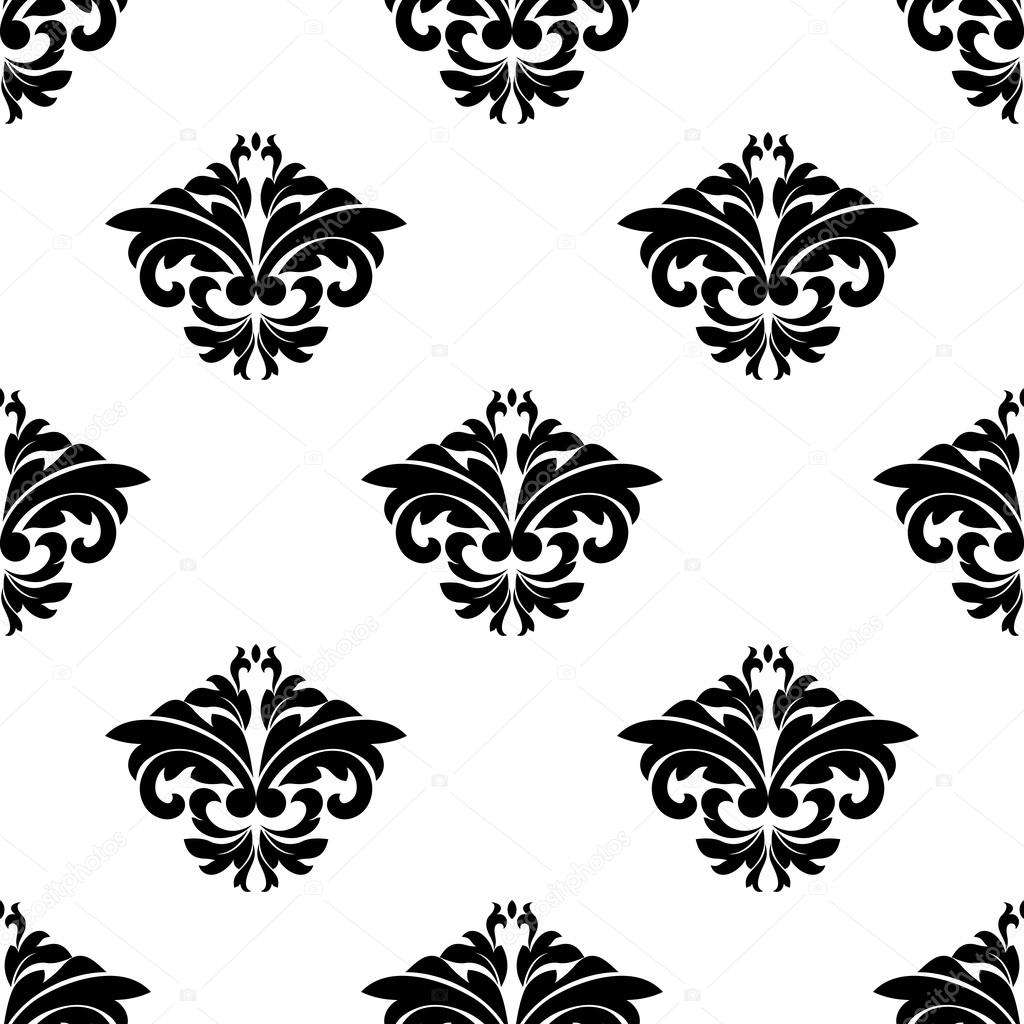motivos florales en una repetición de patrones sin fisuras Damasco ...