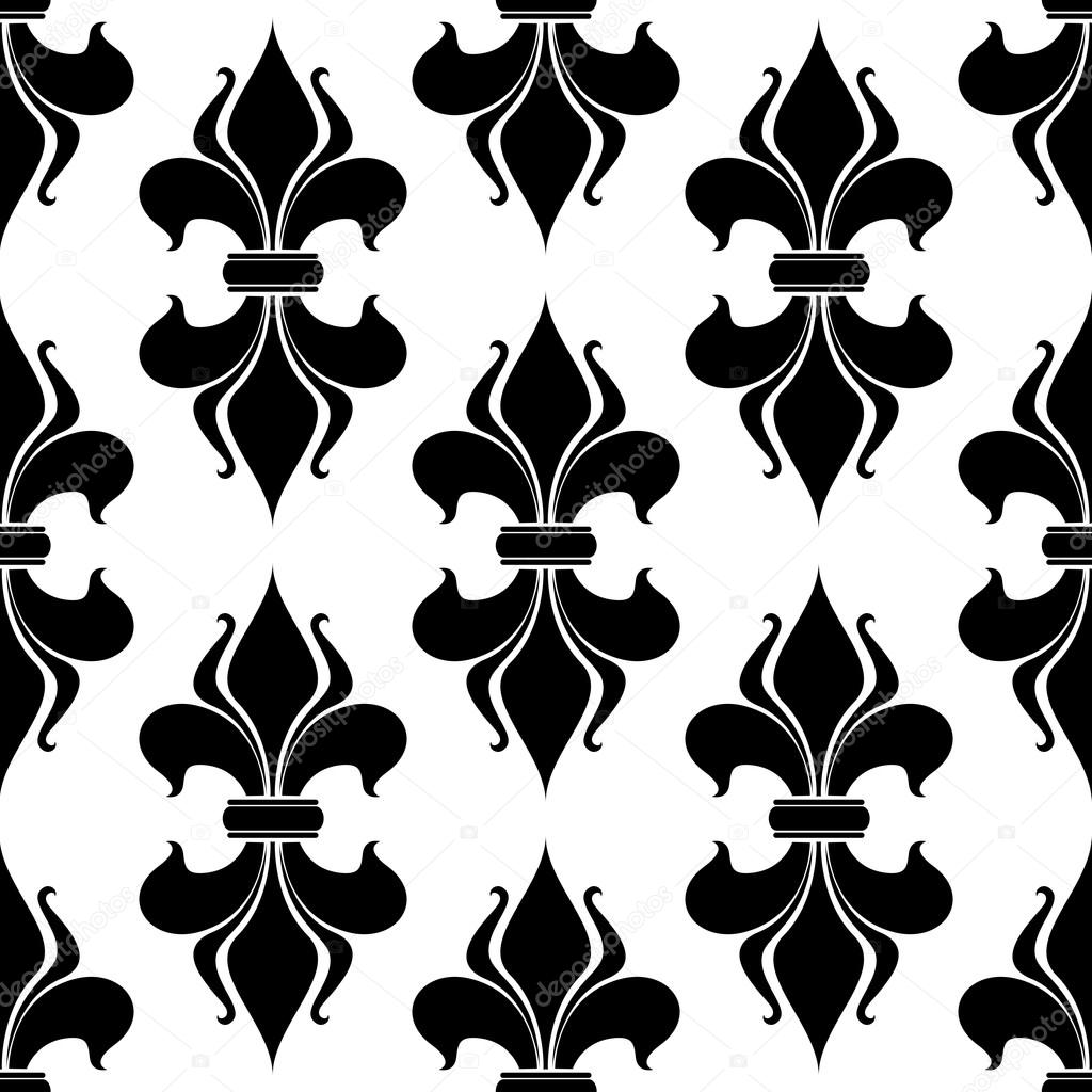 fleur de lys seamless pattern stock vector seamartini 48065775