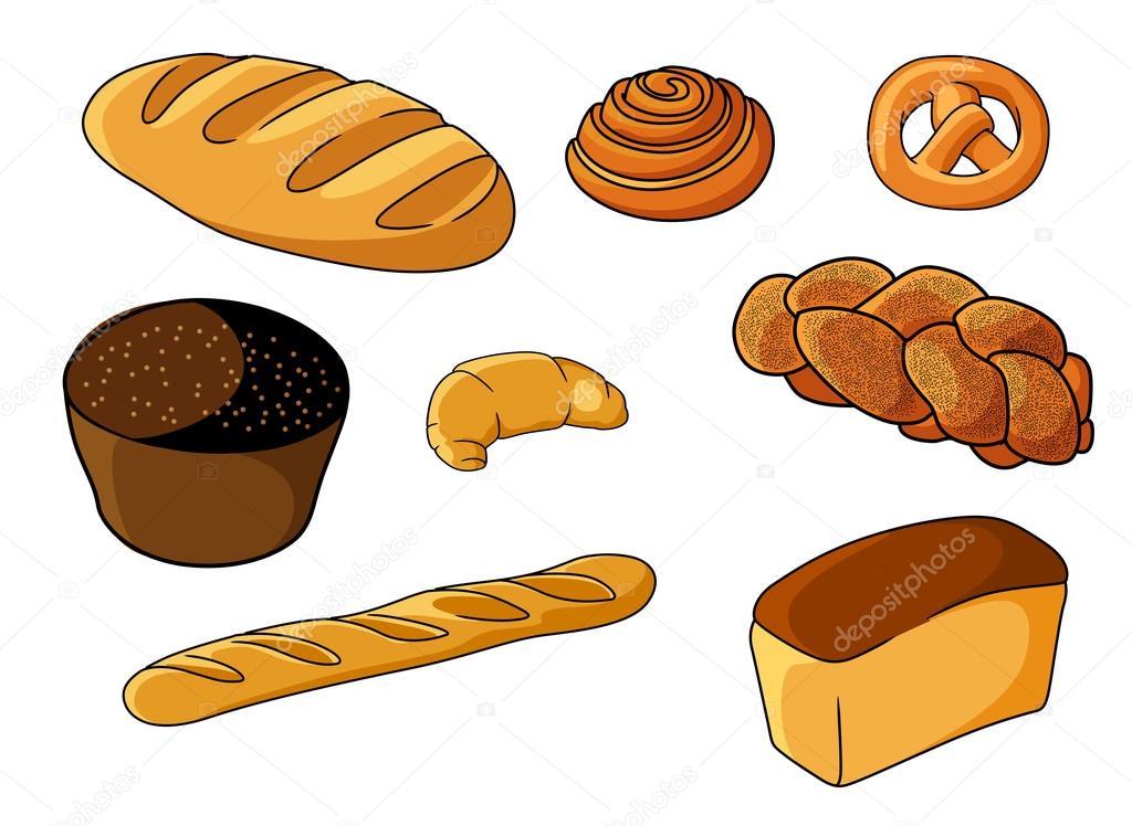 Sistema Clasificado De Panadería Fresca De Dibujos