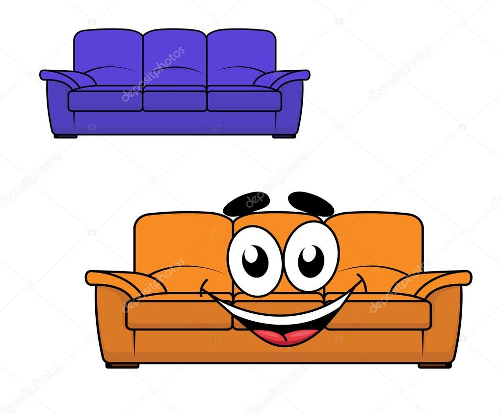 Dibujos animados sof muebles vector de stock for Mueble animado