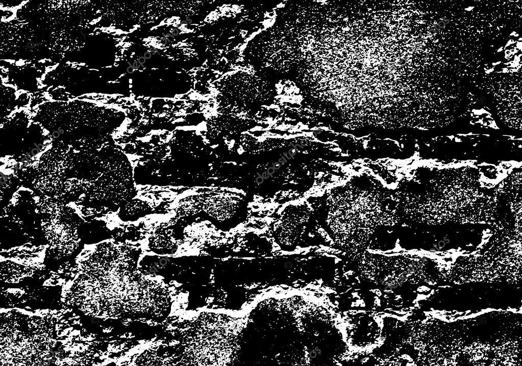 Grunge white and black brick wall background