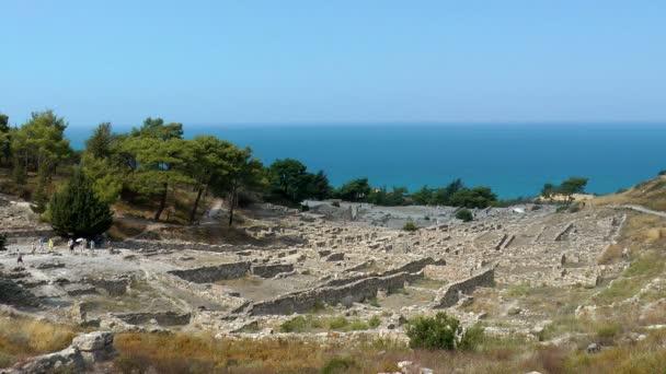 antické ruiny města kamiros. ostrov Rhodos. Řecko.