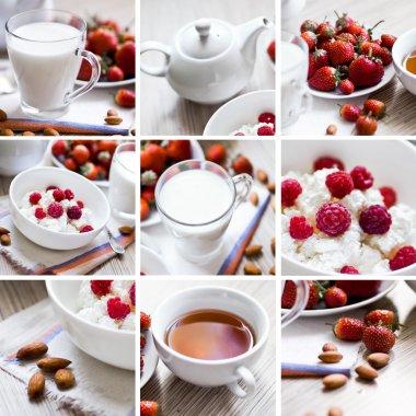 collage of dieting breakfast