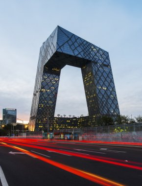 CCTV headquarter at night,Beijing,China