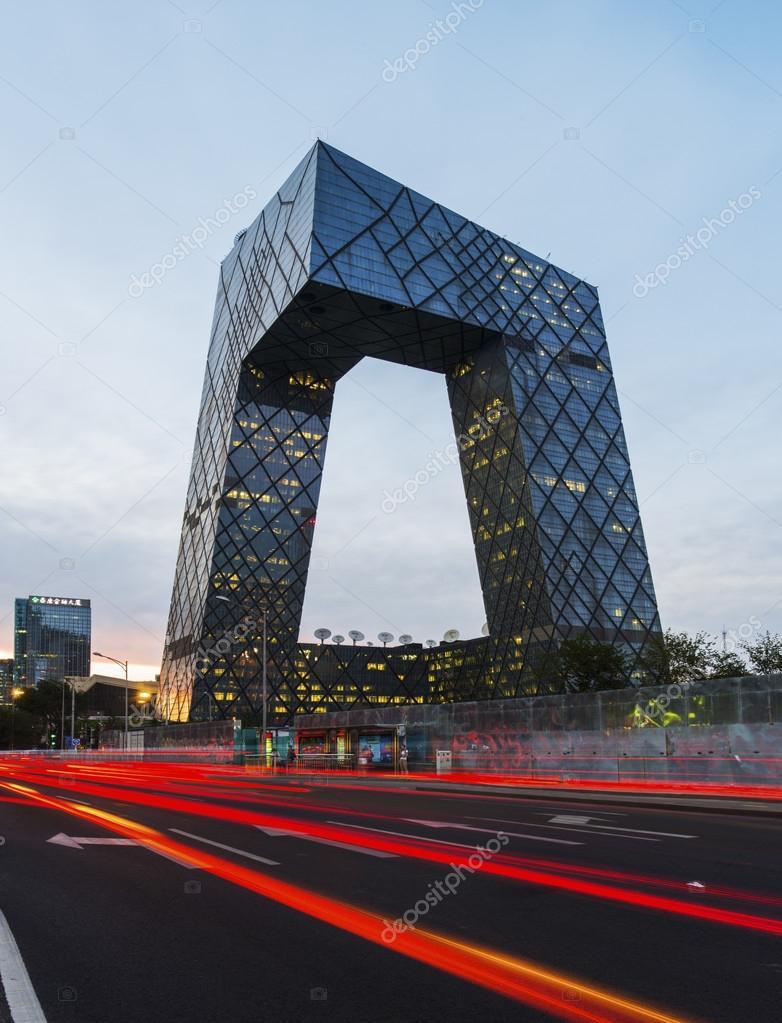 CCTV headquarter at night,Beijing,China