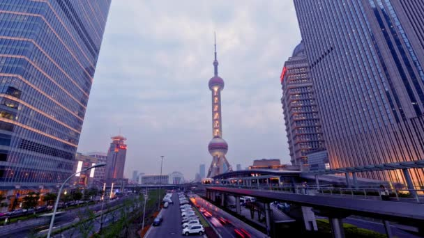 From day to night,Oriental Pearl Tower in Pudong,Shanghai,China