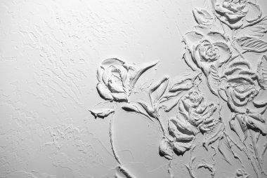 White flowers pattern background