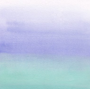 Watercolor painting. White, blue, green gradient
