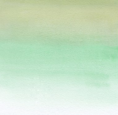 Watercolor painting. White and green gradient