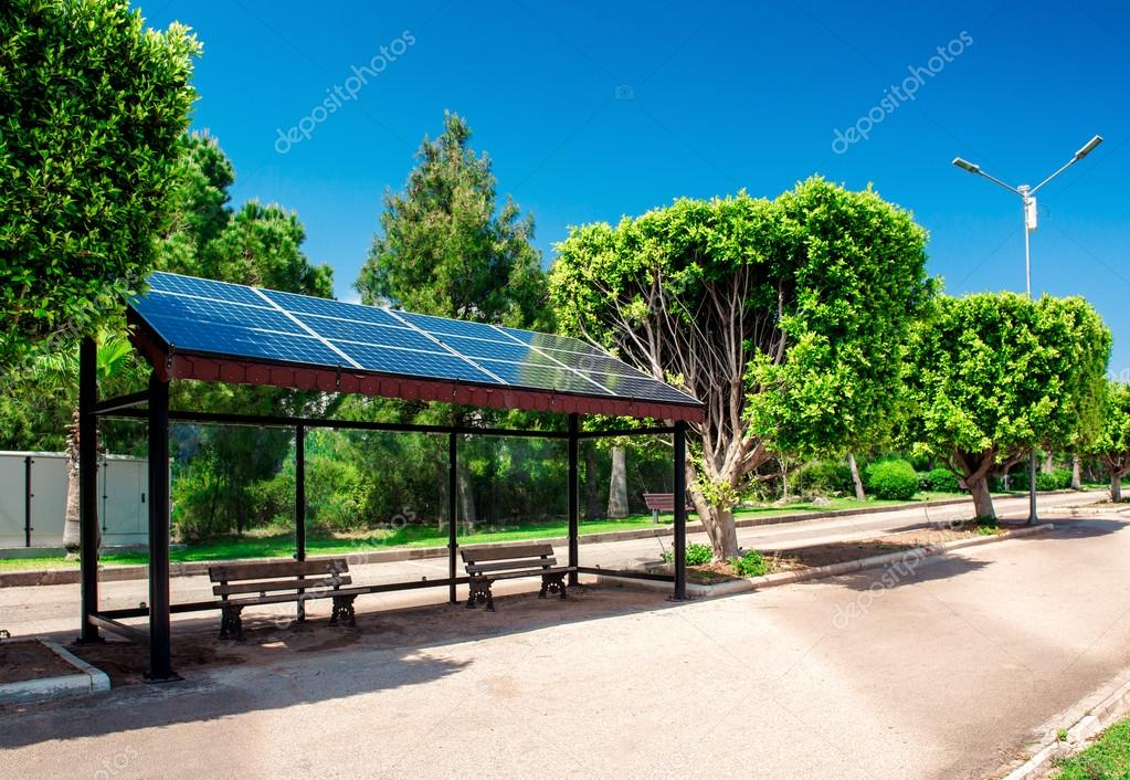 Eco-friendly solar bus stop