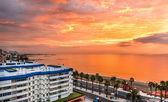 Fotografie Beautiful sunset above the sea