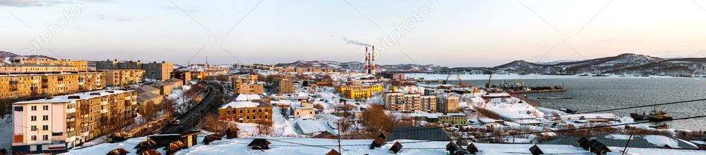 Panoramic view of Petropavlovsk-Kamchatsky city