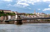 Fényképek Lánchíd a Duna folyón. Budapest city. Magyarország