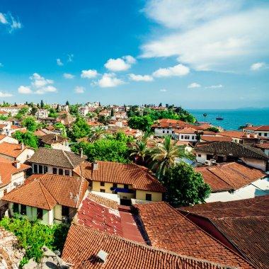 Alanya cityscape. Turkish resort stock vector