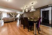 luxus belső tér modern étkező