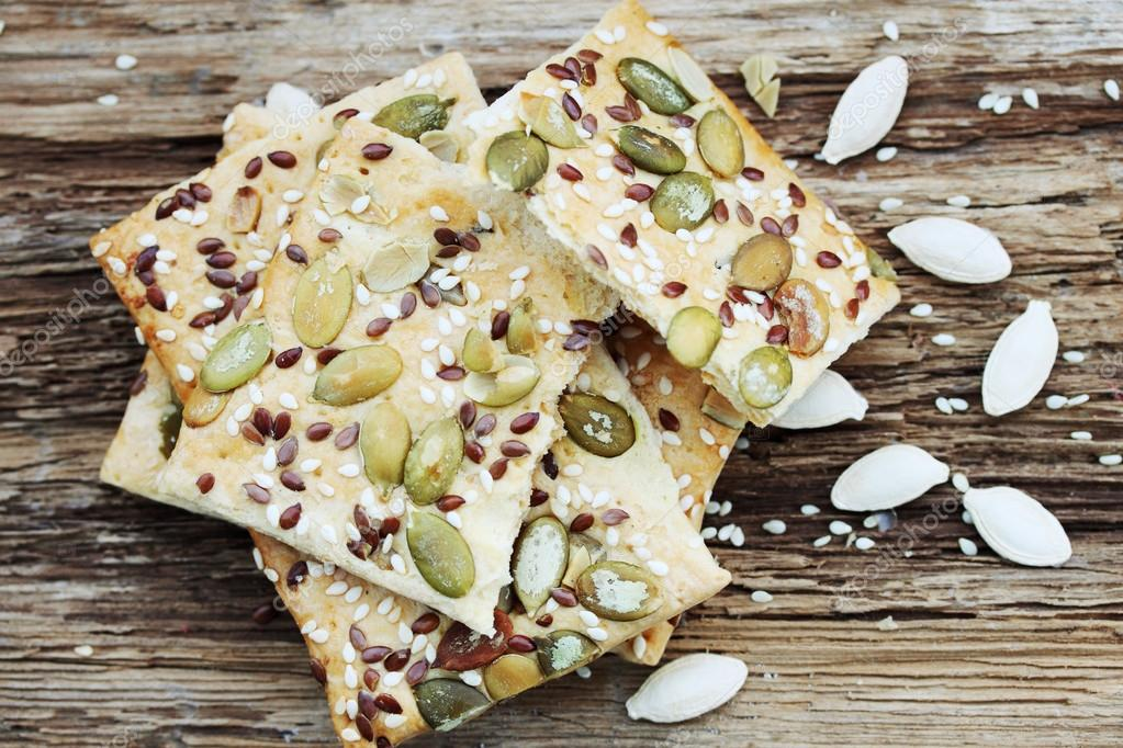 pastry with pumpkin seeds