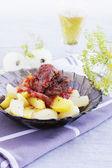 Fotografie Kartoffeln mit geschmortem Schweinefleisch
