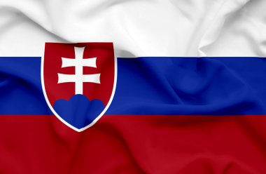 Slovakia waving flag