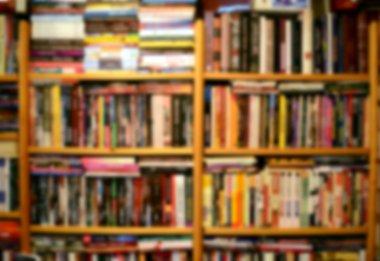 Blured books background