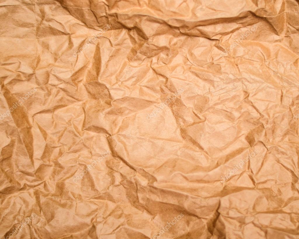 texture de papier froissé marron ancien — Photographie Alexis84 © #19482583