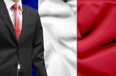 Businessman from France conceptual image