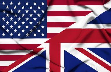 United States of America and United Kingdom waving flag