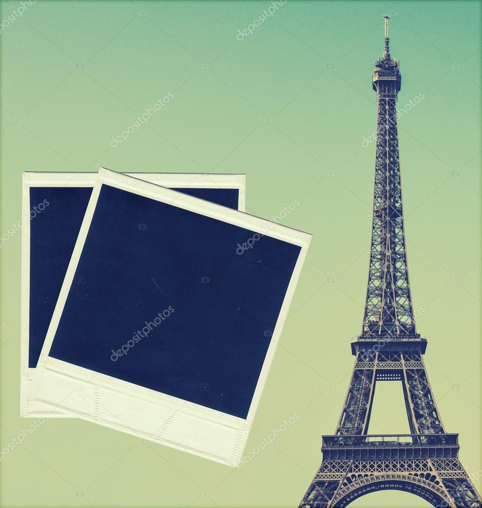 Vintage image of eiffel tower and blank photo frames stock photo vintage image of eiffel tower and blank photo frames stock photo 26499207 jeuxipadfo Images