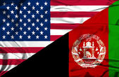 Fotografie Waving flag of Afghanistan and USA