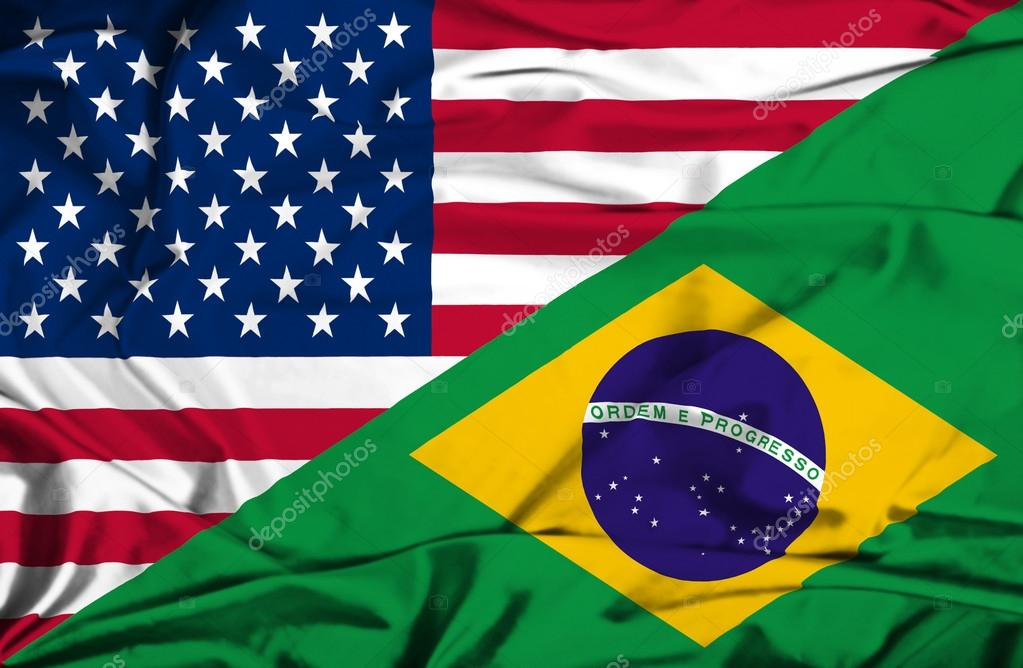 Waving Flag Of Brazil And Usa Stock Photo 169 Alexis84