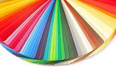 barevný průvodce spektra vzorků vzorky duha na bílém pozadí
