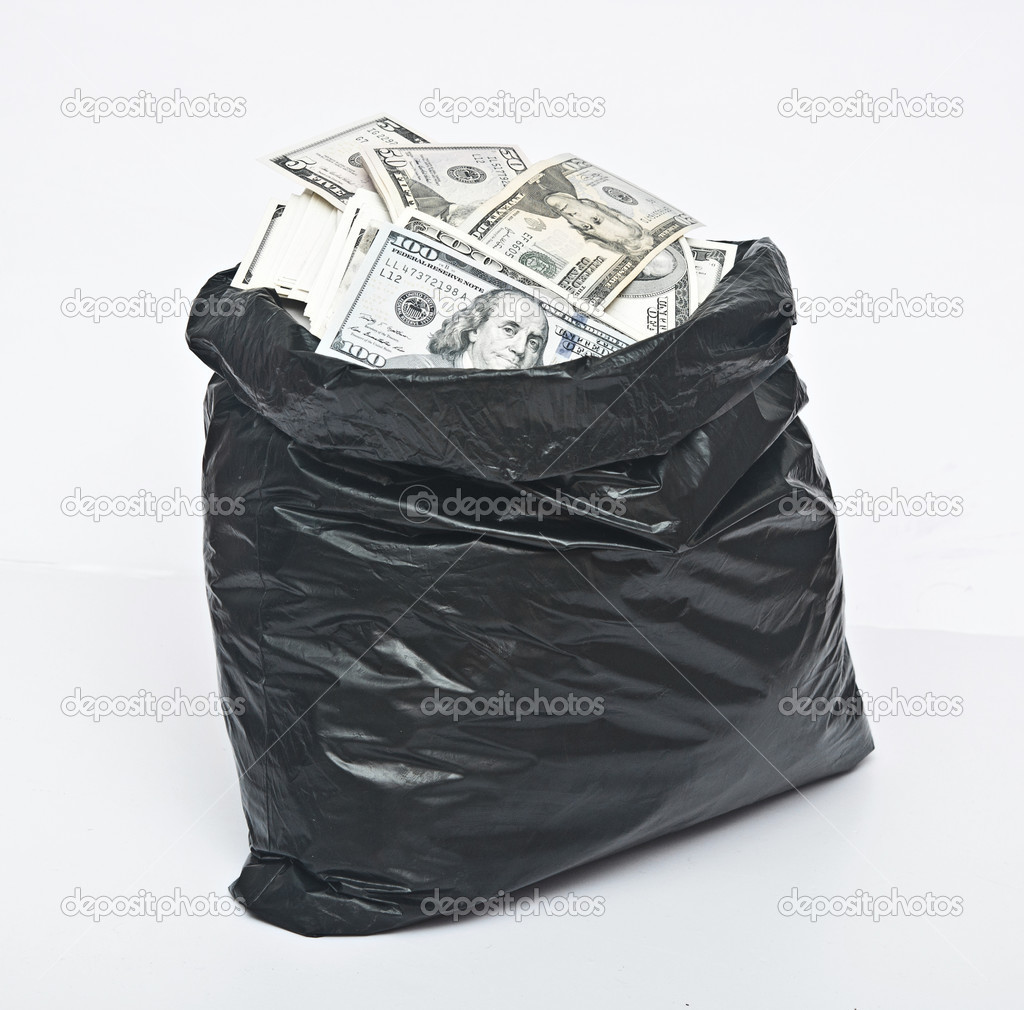 plastic bag full of money stock photo inxti74 42033583