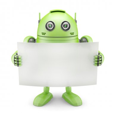 Android with blank banner