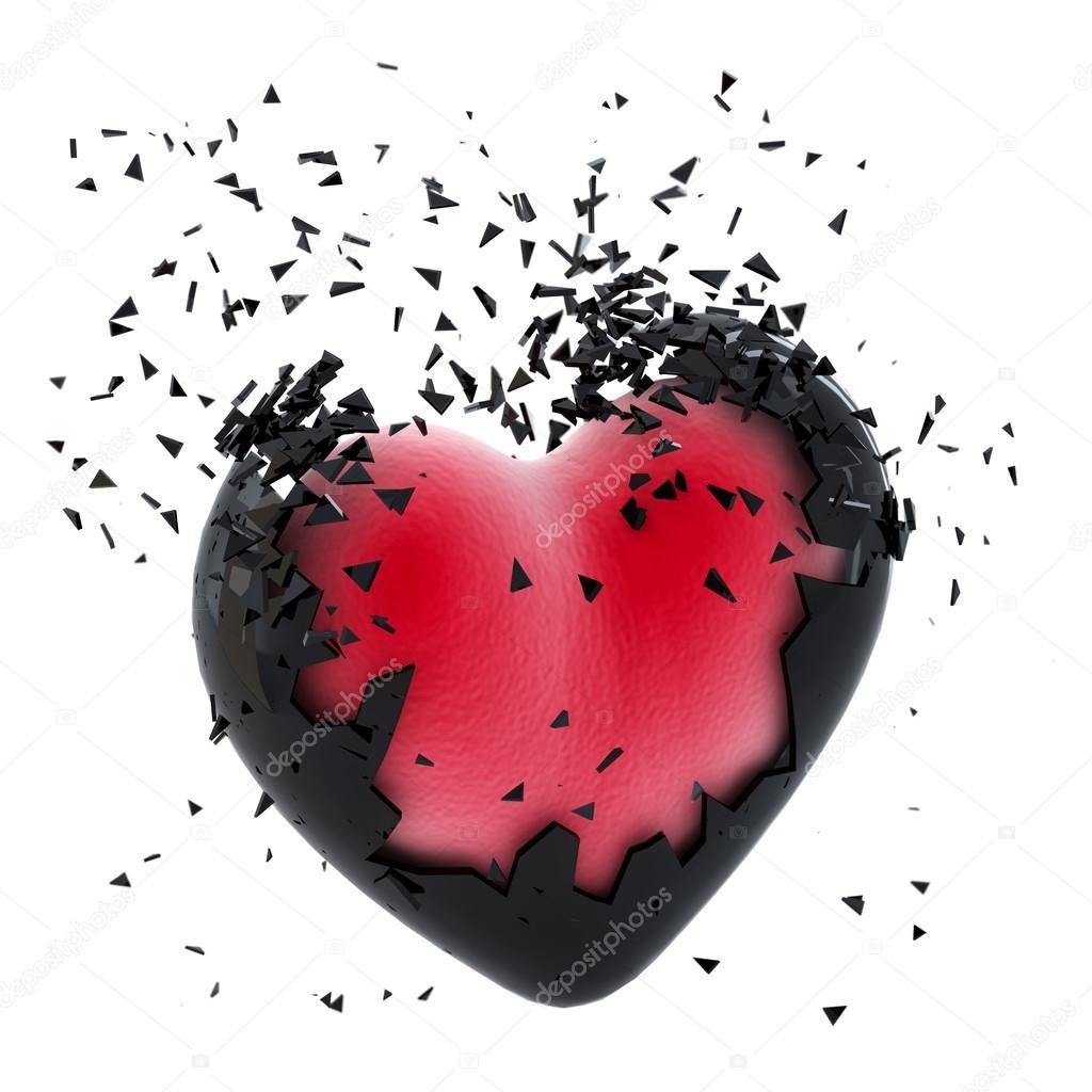 exploding heart stock photo kirillm 42976839. Black Bedroom Furniture Sets. Home Design Ideas
