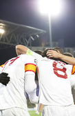 Fotografie Galatasaray team after scoring a goal, CFR Cliuj-Napoca vs Galatasaray istambul footbal match