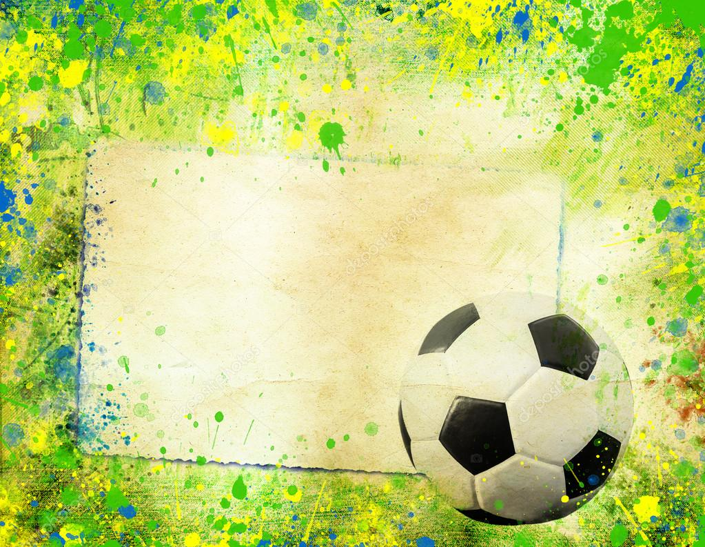 Fußball und die Farben der Flagge von Brasilien — Stockfoto ...