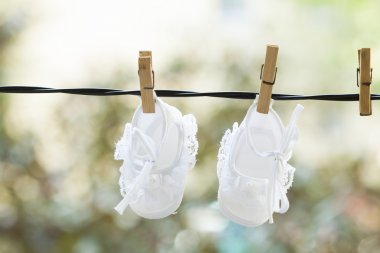 Hanging baby clothes