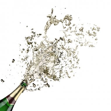 Close-up of champagne explosion stock vector