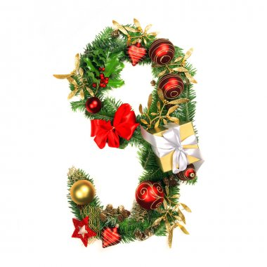 Christmas Alphabet Number 9