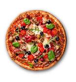 Fotografia deliziosa pizza italiana