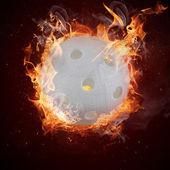 horké florbal v plameni ohně