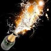 šampaňské exploze