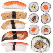 Japonské mořské sushi set, close-up
