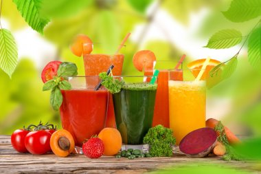 Fresh juice mix fruit.