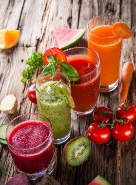 Fresh juice mix fruit.