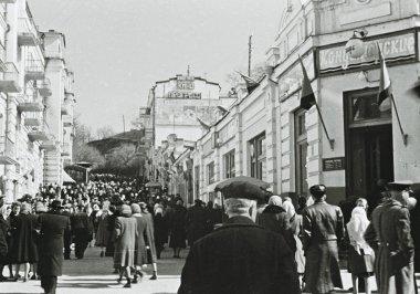 People in Kislovodsk, Soviet Union, 1953