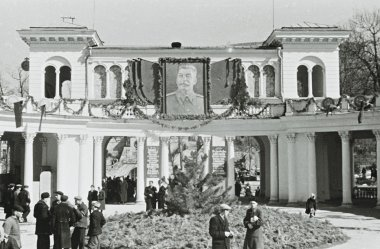 People at Colonnade of Kislovodsk, Soviet Union