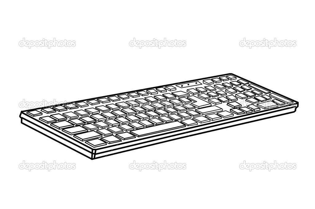 Images Keyboard Drawing Drawing Keyboard Stock Photo C Vetkit 15726811