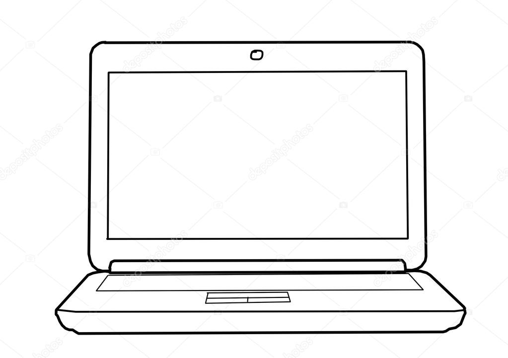 stock photo drawing laptop
