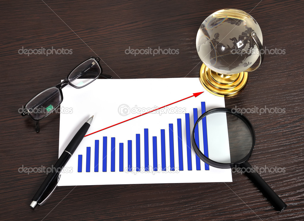 Growth Of Chart On Paper Stock Photo Vetkit 18910613