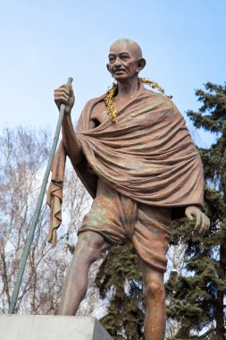 Mahatma Gandhi. The monument in Moscow